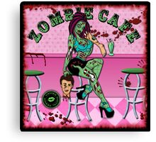 Zombie Cafe Canvas Print