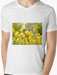 Yellow Tulips Mens V-Neck T-Shirt
