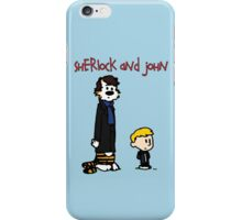 Sherlock Hobbes and John Calvin iPhone Case/Skin