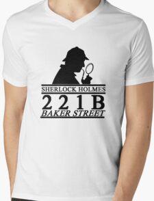Sherlock Holmes Address 1 Mens V-Neck T-Shirt
