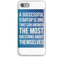 Start up questions iPhone Case/Skin