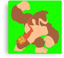Simplistic Donkey Kong Canvas Print