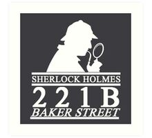 Sherlock Holmes Address 3 Art Print