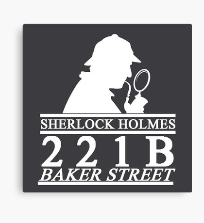 Sherlock Holmes Address 3 Canvas Print