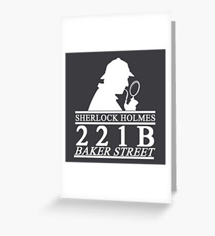 Sherlock Holmes Address 3 Greeting Card