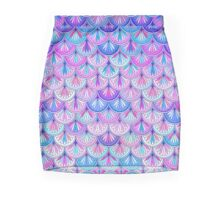 Pastel Opal Scallop Design Mini Skirt