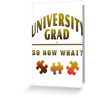 University Grad Now What Greeting Card