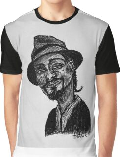 Snoop Dogg Scribble Art Graphic T-Shirt