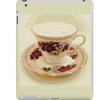Pink and Red Roses Vintage Teacup Still Life Photography  iPad Case/Skin