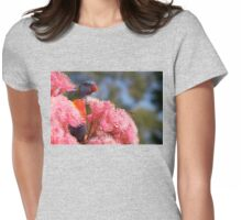 The Bird, the Bee and the Gum Blossoms ~ Rainbow Lorikeet Womens Fitted T-Shirt