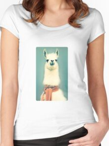Llama Women's Fitted Scoop T-Shirt