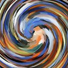 Modern Swirl Abstract Art by Nhan Ngo