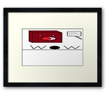 Red-tangle Framed Print