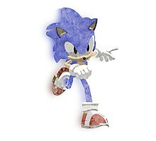 Faded Sonic Photographic Print
