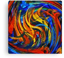 Modern Colorful Swirl Abstract Art Canvas Print