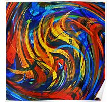 Modern Colorful Swirl Abstract Art Poster
