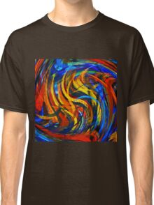 Modern Colorful Swirl Abstract Art Classic T-Shirt