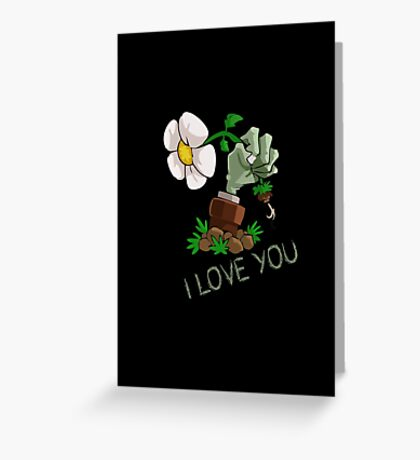 Plants vs Zombies -  I Love You Greeting Card