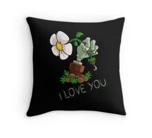 Plants vs Zombies -  I Love You Throw Pillow