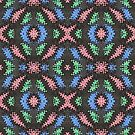 Colorful Confetti Pattern on Black by donnagrayson
