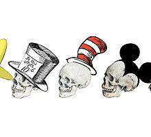 Skulls with hats by Chanash