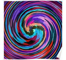 Modern Colorful Swirl Abstract Art #2 Poster