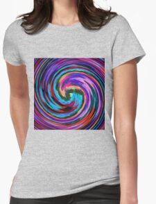 Modern Colorful Swirl Abstract Art #2 Womens Fitted T-Shirt
