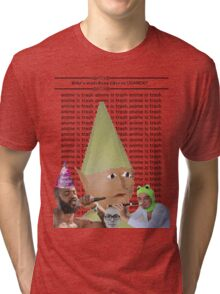 Death Memes Anime Grips Filthy Fantano Tri-blend T-Shirt