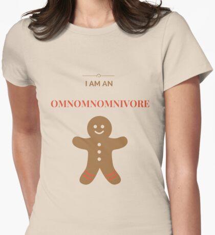 Omnomnomnivore Womens Fitted T-Shirt