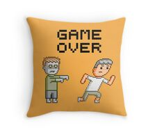 Game Over Zombies Dead Pixel Throw Pillow