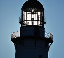 Sun Behind The Lighthouse   Montauk Point, New York  by © Sophie W. Smith