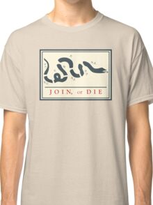 Ben Franklin Join or Die Cartoon Poster Classic T-Shirt