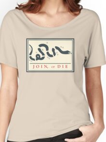 Ben Franklin Join or Die Cartoon Poster Women's Relaxed Fit T-Shirt