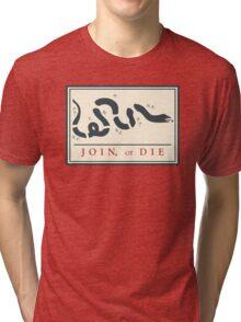 Ben Franklin Join or Die Cartoon Poster Tri-blend T-Shirt