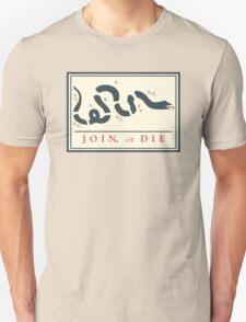 Ben Franklin Join or Die Cartoon Poster Unisex T-Shirt