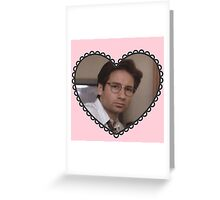 david duchovny heart Greeting Card