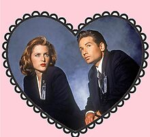 mulder and scully heart by wendyrodgers