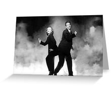 silly mulder and scully Greeting Card