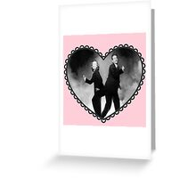 silly mulder and scully heart Greeting Card