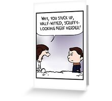 Calvin and Hobbes x Star Wars Greeting Card