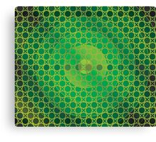 Honeycomb Inspirations - Lime Green, Emerald Green and Gold Canvas Print