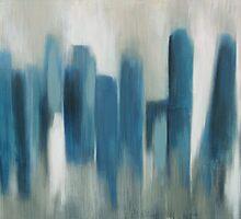 blu city abstract by Jayscottstudios