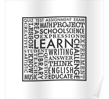 Learn word collage Poster