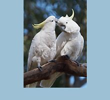 """Sulphur-crested Cockatoos ~ """"I love you too"""" Womens Fitted T-Shirt"""