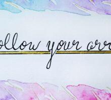 Follow Your Arrow - Watercolor Sticker
