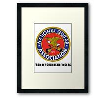 National Guitar Association NGA Framed Print