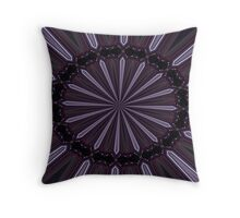 Eggplant and Pale Aubergine Abstract Floral Pattern Throw Pillow