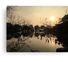 Sunset, West Lake, Hangzhou, China Canvas Print