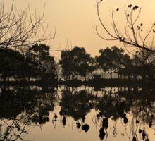 Sunset, West Lake, Hangzhou, China Sticker