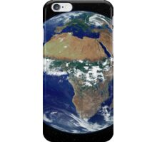 Full Earth Showing Africa and Europe during the day. iPhone Case/Skin